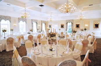 Ballroom Wedding Reception at Thainstone House