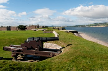 Fort George Cannons near Golf View Nairn