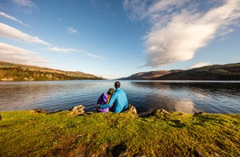 Couple at Loch Ness near Golf View Nairn