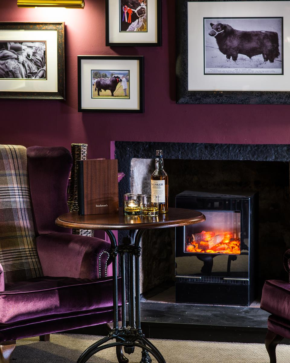 Stockman's Bar & Fireplace at Thainstone House