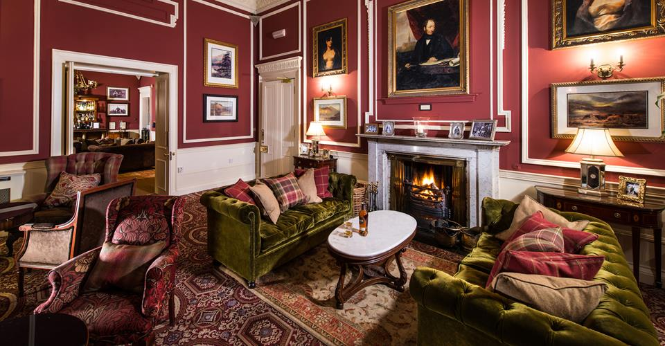 Drawing Room & Fireplace at Thainstone House