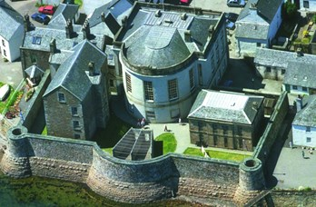 Aerial View of Inveraray Jail Loch Fyne