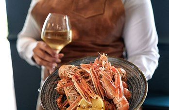 Langoustines & Wine at the Cladach Mor Bistro