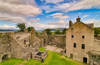 Dunstaffnage Castle near Oban Bay Hotel